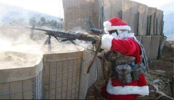 Santa Claus fights foreign-backed terrorists in Syria